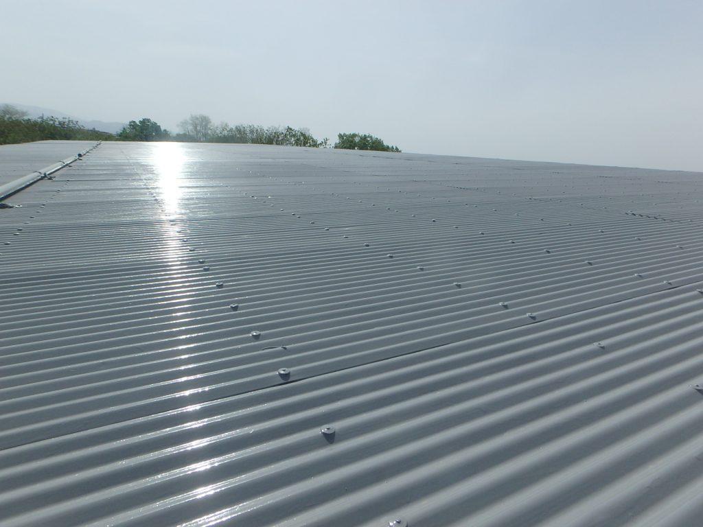 大伸管工業所 小屋屋根 塗装